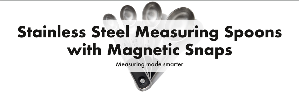 OXO Stainless Steel Good GripsMeasuring Spoons with Magnetic Snaps