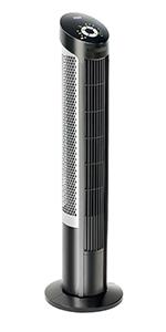 seville classics ultraslimline tall 40 inch tower fan black steel plastic remote control durable