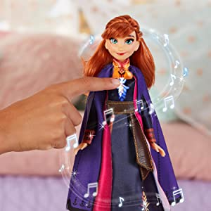 disney frozen 2 doll; singing anna doll; anna toy singing the next right thing