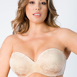 2f13013fb Curvy Couture Strapless Sensation Multi-Way Bra at Amazon Women s ...