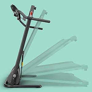 compatto, pieghevole, facile, facile, veloce, veloce, veloce, piccolo,sportstech, f10, tapis roulant