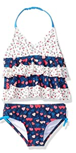 tankingi for girls, toddler swimsuits, red white and blue swimsuits, 4th of july bathingsuit