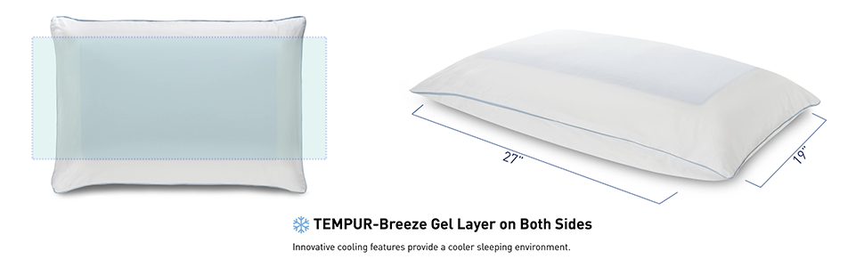 Amazon Com Tempur Cloud Breeze Dual Cooling Pillow Queen