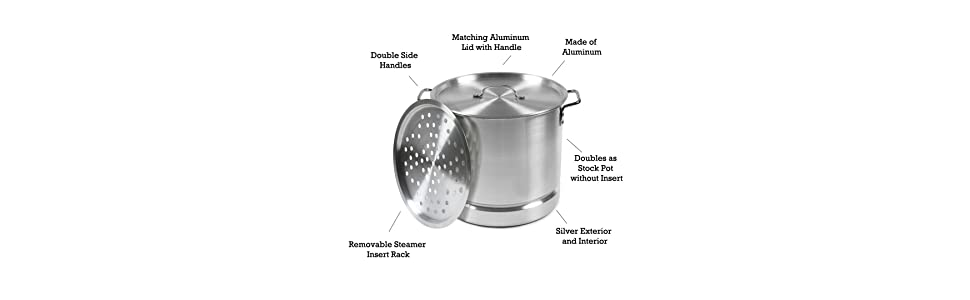 Amazon.com: IMUSA Olla hervidora Aluminio, Plateado: Kitchen ...