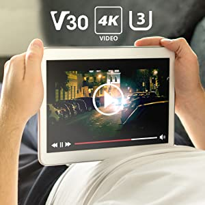V30 U3 microsd memory cards 4k fullhd video kindle fire hd samsung galaxy note tablet phone android