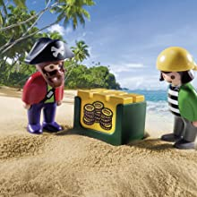 Playmobil, 123, Pirates, Treasure, Advenure, Figures