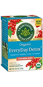 Traditional Medicinals Organic EveryDay Detox Schisandra Berry Tea