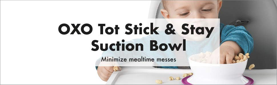 Pink OXO Tot Stick /& Stay Bowl