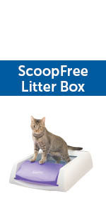 cat litter box litterbox petsafe scoopfree scoop no cleaning automatic clean crystal