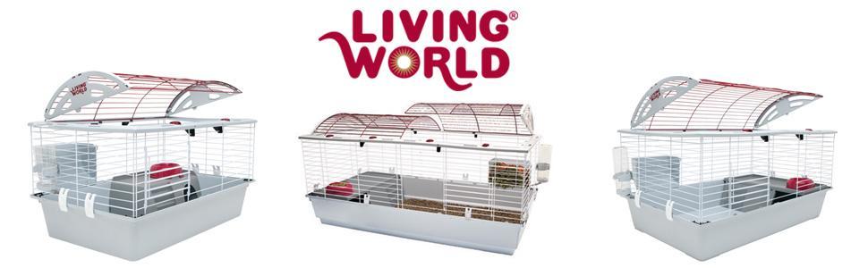 Amazon Com Living World Deluxe Pet Habitat X Large Rabbit Cage