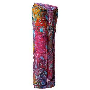Amazon.com: Hugger Mugger Batik Yoga Mat Bag, Purple Multi ...