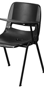 Black Tablet Arm Chair