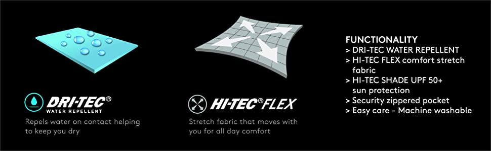 Hi-Tec Womens Rescue Skirt Stretch Drawstring Active Skort