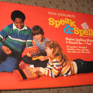 Retro Looking image of Speak and Spell