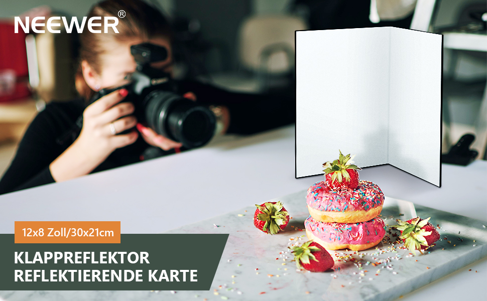 Neewer 30x21cm Karton Faltreflektor Reflektierende Kamera