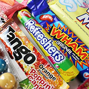 Refreshers Roll, Tango Popping Candy, Wham Chew Bar, White Mice