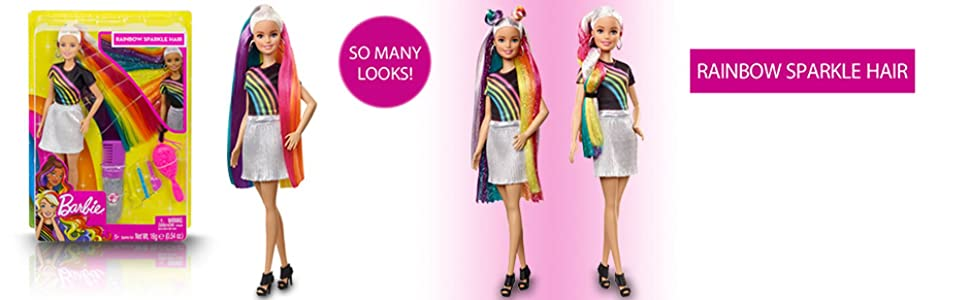 Doll's Hair Hides a Rainbow with 5 Different Colors!