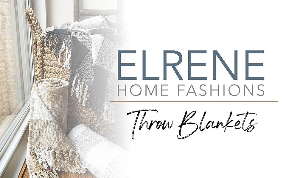 elrene home fashions throw blankets farmhouse