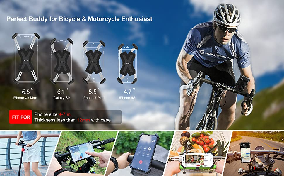 Color : Black, Size : 5x5x12cm Ybriefbag Bike Phone Mount Bicycle Light Stopwatch Bracket Mobile Phone Extension Bracket Jiaming Base Can Hang Sports Camera Bike Accessories