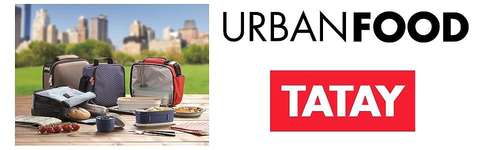 TATAY Urban Food Casual - Bolsa térmica porta alimentos con 4 ...