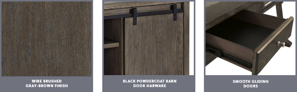 wire brushed gray-brown finish black powder coat barn door handles smooth gliding doors