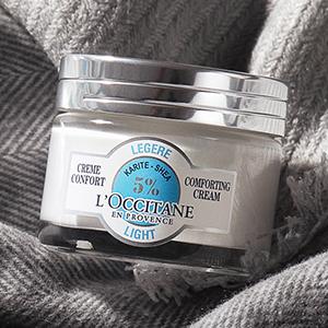 loccitane en provence shea light comforting cream