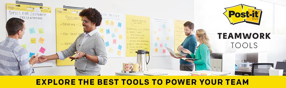 Post-it Teamwork Tools, Explore the best tools to power your team
