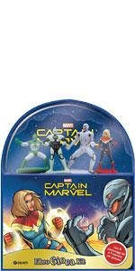 Captain Marvel. Libro gioca kit. Con 4 gadget