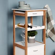 Praktisch en veelzijdig inzetbaar in badkamer, keuken, hal, woonkamer en het hele huishouden.