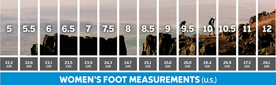 Women's hiking and trail shoe size and fit guide