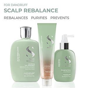 alfaparf milano scalp rebalance shampoo flaking alfa parf semi di lino care product dandruff