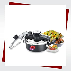 3L CLIP-ON HARD ANODISED PRESSURE COOKER
