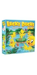 lucky, ducks, pond