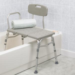 Bathroom Medical Shower Plastic Chair Seat Stool Handicap Elderly Bath Tub Back Ebay