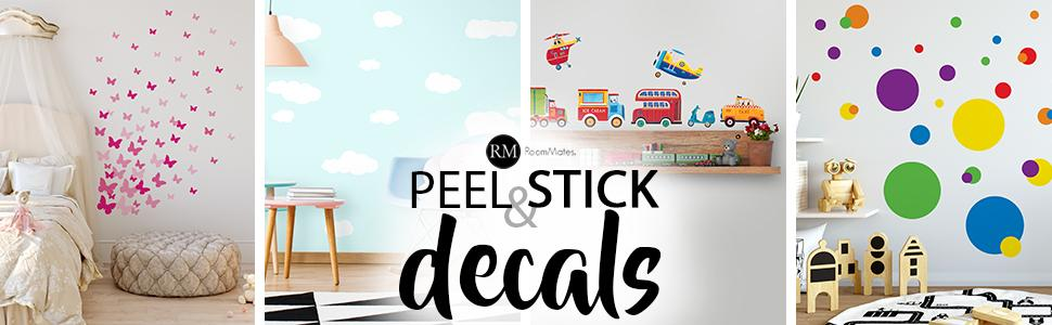 peel and stick wall decals, roommates peel and stick wall decals