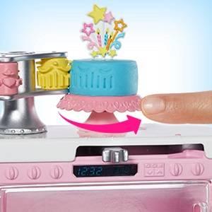 Barbie Quero ser decoradora de pasteles, muñeca morena con cocina y accesorios (Mattel GFP59)