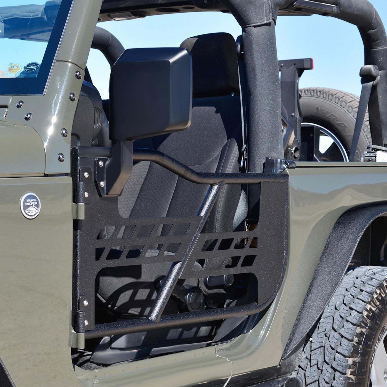 EAG Safari Doors for 2007-2017 Jeep Wrangler Jk & Amazon.com: EAG Safari Tubular Doors with Side Mirrors for 07-18 ...