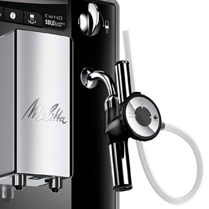 Melitta Caffeo Solo&Perfect Milk E957-101, Cafetera Automática con Molinillo, Auto Capuchinador, 15 Bares, Café en Grano, Limpieza Automática, Personalizable, Negro: Amazon.es: Hogar