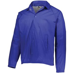 raglan sleeve coach's jacket with snap fronts