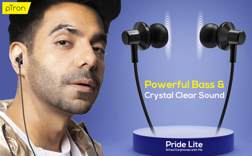ptron pride lite wired headphones