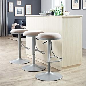 Groovy Crosley Furniture Cf521126Pl Lt Jasper Backless Swivel Counter Stool 26 Inch Platinum With Light Tan Cushion Bralicious Painted Fabric Chair Ideas Braliciousco