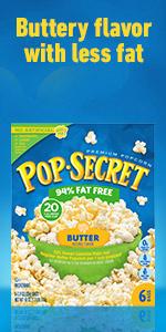 POP SECRET 94% fat free Butter Popcorn Box