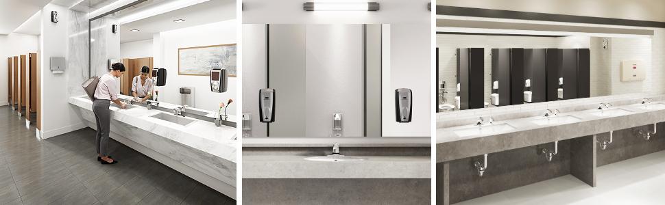 bathroom restroom restaurant gym bar pub office industrial comemrcial fancy luxury nicelooking