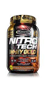 NitroTech Crunch Protein Bar Whey 100 Gold Power Ripped