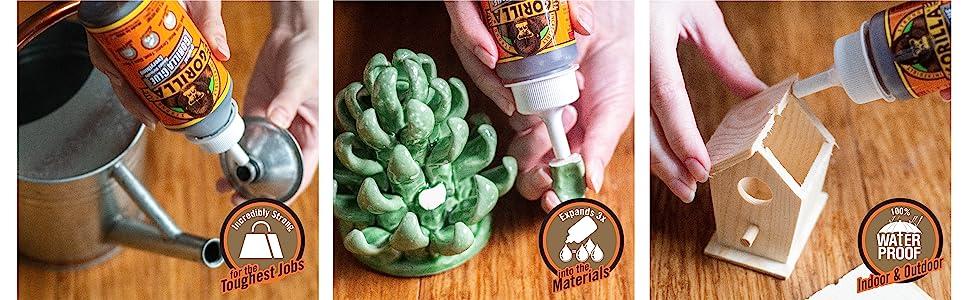 Gorilla Original Polyurethane Glue tropical exotic hardwood wood waterproof