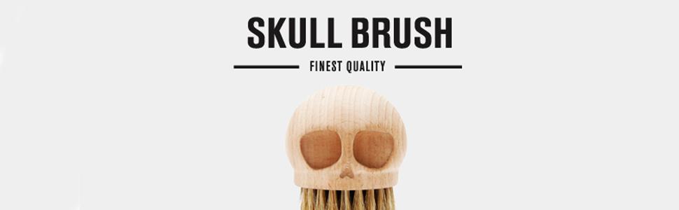 skull brush banner