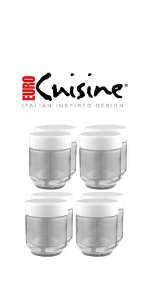 Euro Cuisine GY1920 set of 8 Glass Jars with BPA Free Lids