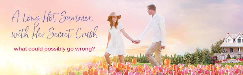 A couple holding hands: A long hot summer with her secret crush... What could possibly go wrong?