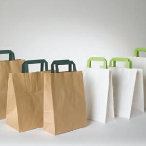 PackNWood 210SVIS2214 Brown Kraft Bag with Window 8.7 x 5.5 x 2.4-1000 per case