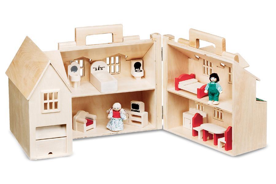 Amazon Com Melissa Amp Doug Fold Amp Go Dollhouse Melissa